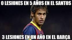 Enlace a Neymar y las lesiones, tal para cual