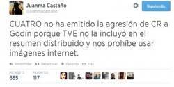 Enlace a Juanma Castaño aclara el porqué de no emitir la agresión de CR7. Ni 4, ni TVE...
