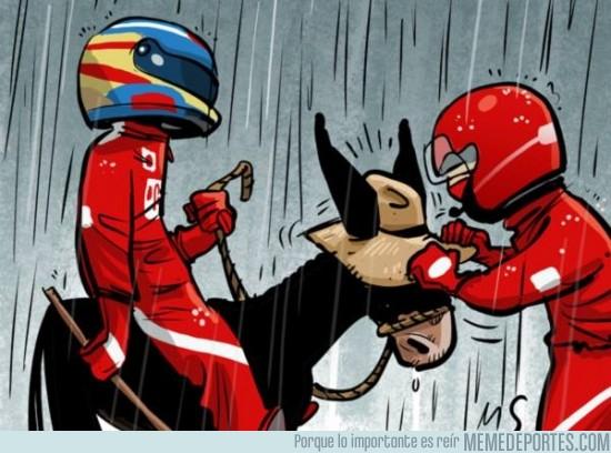 376805 - Fernando Alonso aprovecha la lluvia para colarse en la segunda fila de la parrilla