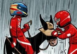 Enlace a Fernando Alonso aprovecha la lluvia para colarse en la segunda fila de la parrilla