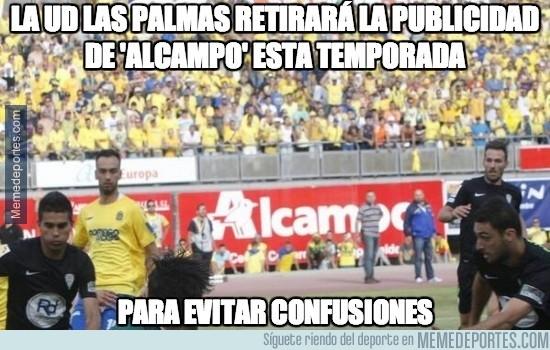 378418 - La UD Las Palmas retirará la publicidad de 'Alcampo' esta temporada
