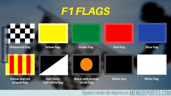 379190 - Demuestra tus conocimientos de F1 y di que significa cada bandera