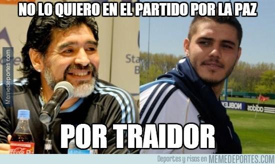379298 - Maradona mandándole un recado a Icardi