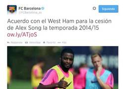 Enlace a GIF: Reacción de la directiva del Barça al deshacerse de Alex Song
