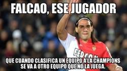 Enlace a Falcao, cedido al United, otro año sin Champions