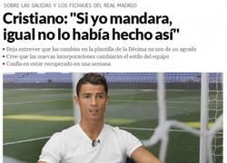Enlace a Polémicas declaraciones de Cristiano Ronaldo con recadito a Floren