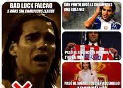 Enlace a Bad Luck Falcao, otro año sin jugar la Champions League