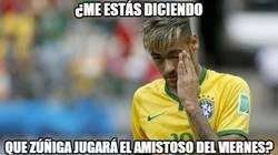 Enlace a Neymar, ten cuidado, que Zúñiga va a jugar el amistoso
