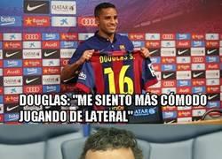 Enlace a Luis Enrique ya ha encontrado la posición ideal para Douglas