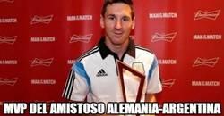 Enlace a Messi, MVP del amistoso Alemania-Argentina