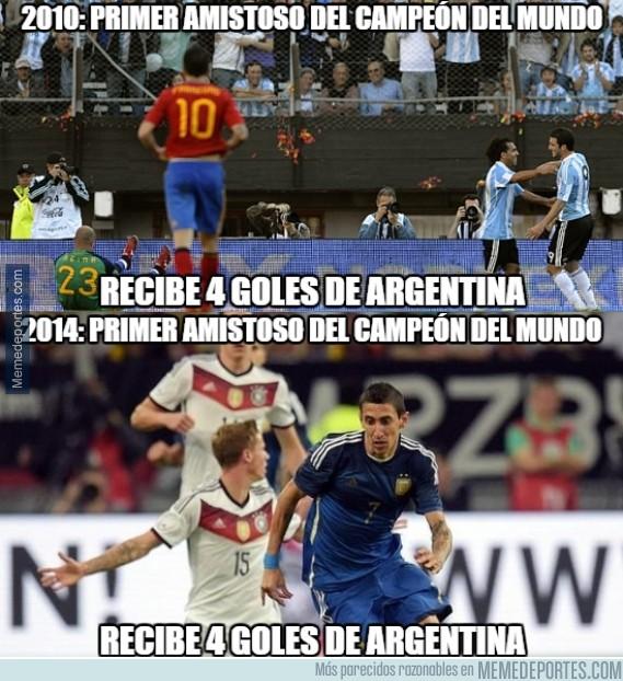 382677 - Así recibe Argentina a los campeones del mundo