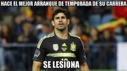 Enlace a Diego Costa y su mala suerte