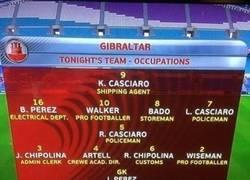 Enlace a Profesiones verdaderas de los futbolistas de Gibraltar