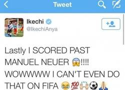 Enlace a Ikechi se vuelve loco en twitter por marcar gol a Neuer