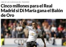Enlace a En Madrid saben que Di María es jugador top y candidato a balón de oro, aún así lo dejan ir