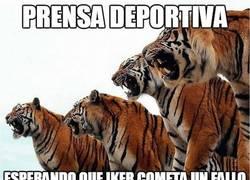 Enlace a La prensa deportiva esperando que Iker cometa un fallo