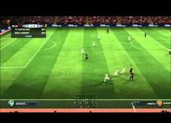 Enlace a VÍDEO: Máximo realismo en el FIFA15. Cánticos de Independencia en el Camp Nou