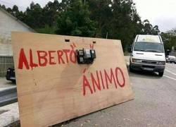 Enlace a Así animan a Alberto Contador en Galicia