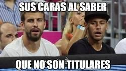 Enlace a A Piqué y Neymar les ha sorprendido su suplencia