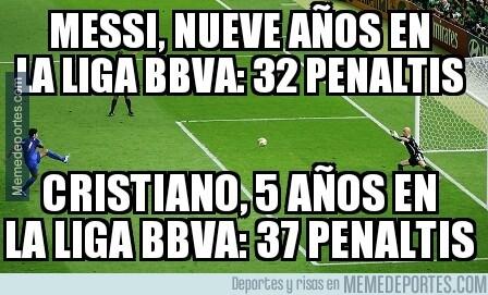 386747 - Curioso dato acerca de los penaltis de Messi y CR7