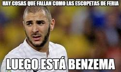 Enlace a Benzema sigue sin atinar