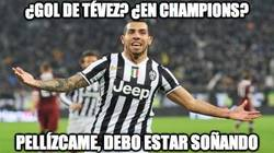 Enlace a ¿Gol de Tévez? ¿En Champions?