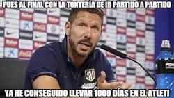 Enlace a El Cholo cumple 1000 días con etl Atleti