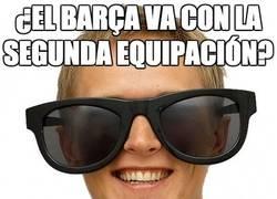 Enlace a ¿El Barça va con la segunda equipación?