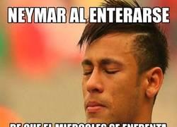 Enlace a Neymar tiene miedo, mucho miedo. ¿Lo podrá batir esta vez?
