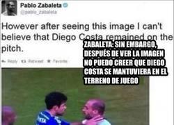Enlace a El zas de Diego Costa al tweet de Zabaleta