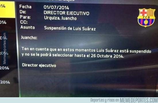391313 - Suárez, suspendido hasta en FIFA 15
