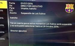 Enlace a Suárez, suspendido hasta en FIFA 15