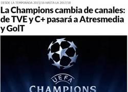 Enlace a La champions ahora en Antena 3