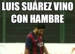 Enlace a Luis Suárez vino con hambre