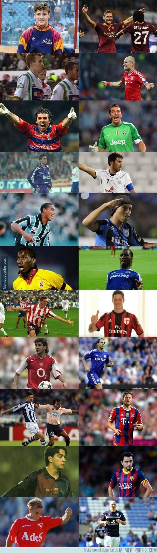 391799 - Del debut hasta hoy de algunos de los mejores futbolistas [Parte 2]