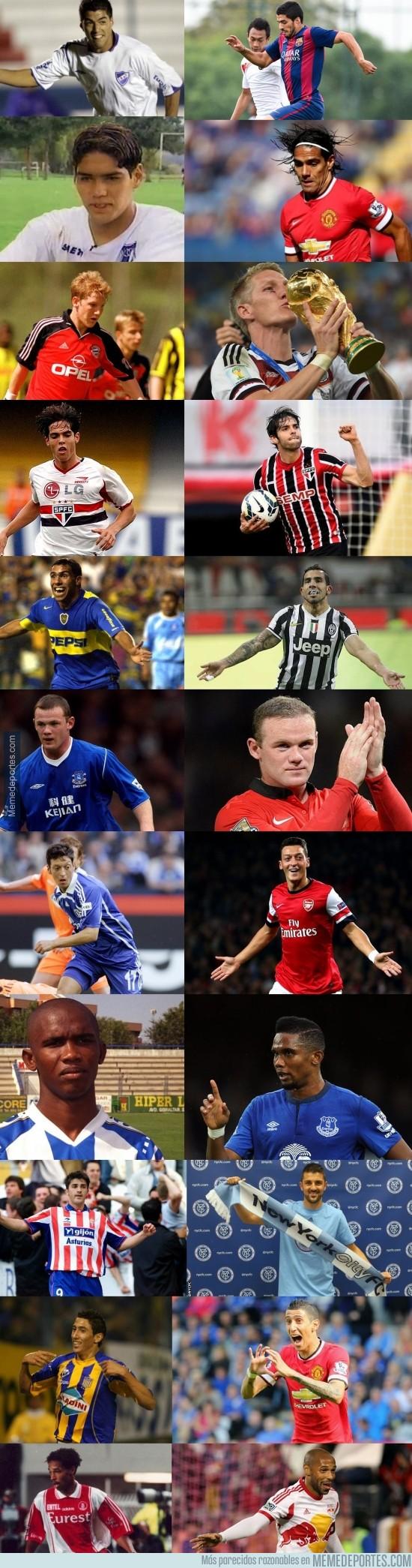 391997 - Del debut hasta hoy de algunos de los mejores futbolistas [Parte 3]