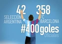 Enlace a Foto oficial del gol 400 de Messi