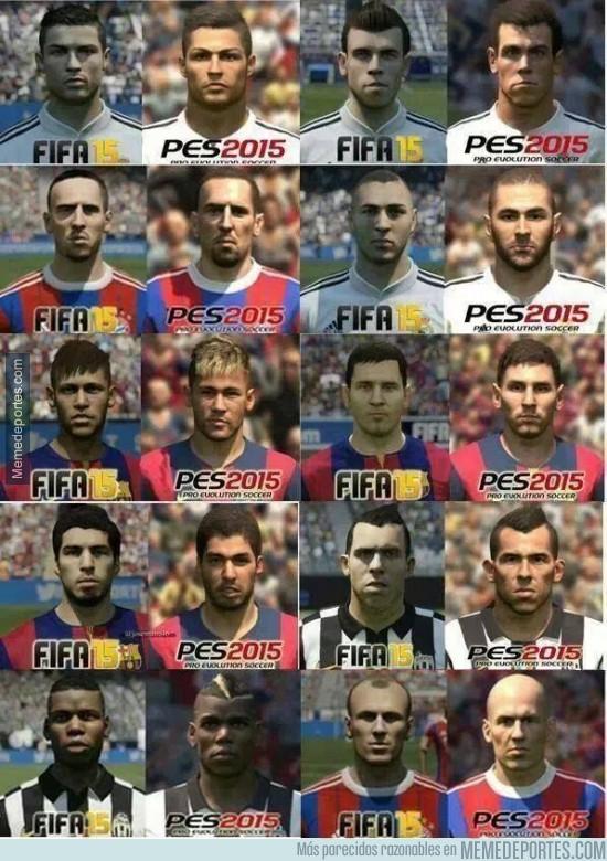 392769 - Algunos jugadores en el FIFA15 y en el PES15, ¿con cuál te quedas?