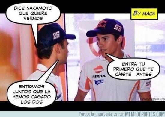 392912 - Conversación post-carrera de Pedrosa y Márquez
