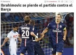Enlace a Confirmado, Zlatan se pierde el partido contra el Barça