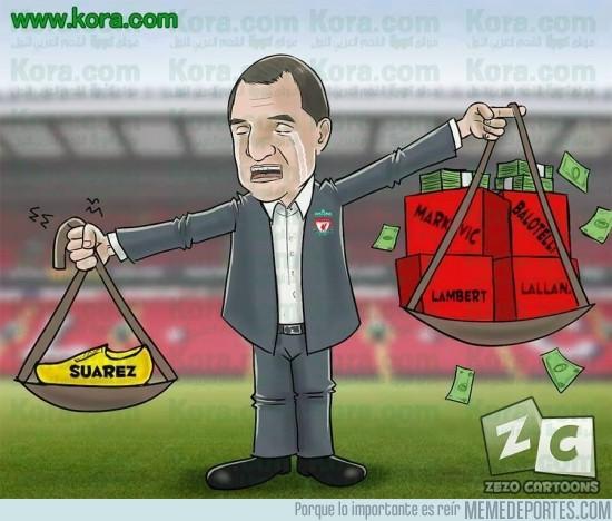 393059 - Liverpool echa de menos a Suárez, su jugador de oro