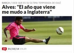 Enlace a Alves le da una alegría a los culés