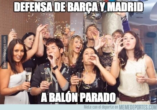 393990 - Defensa de Barça y Madrid a balón parado, festival