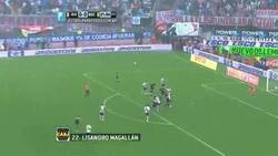 Enlace a GIF: Así terminó el superclásico argentino. River 0 - 1 Boca , Magallan