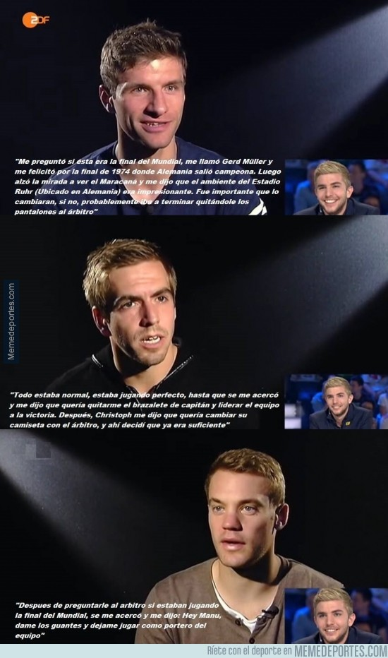 395992 - BRUTAL: Neuer, Müller y Lahm, revelan lo que les dijo Christoph Kramer tras su choque en la Final