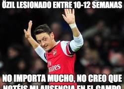 Enlace a Özil lesionado entre 10-12 semanas