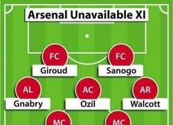 Enlace a Alineación que saldría con los lesionados del Arsenal