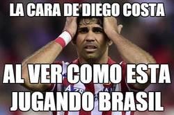 Enlace a A Diego Costa no le fascina ver a Brasil jugando así