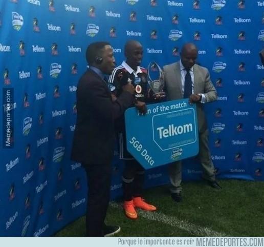 398141 - En Sudáfrica, el mejor jugador del partido recibe un tarjeta de datos de 5GB