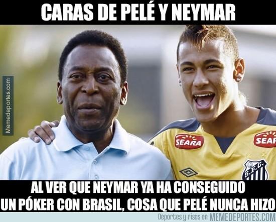 398266 - La gracia que le hace a Pelé que Neymar haya conseguido algo que él nunca pudo, un póker con Brasil